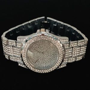 Other - Silver Iced Out Presidential Watch
